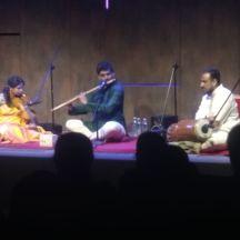Flute: Ravichandra Kulur. violin: Kanchana Shruthiranjani. Mridangam: K U Jayachandra Rao