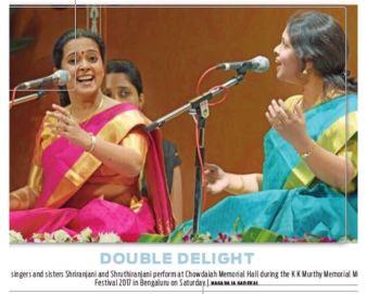 Kanchana Sisters Performed at Chowdaiah Memorial Hall 2017